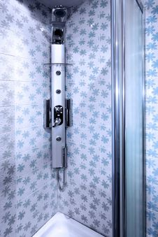 Free Blue Shower Cabin Stock Images - 8731464