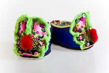 Handmade Cloth Shoes Stock Images