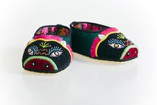 Handmade Cloth Shoes Stock Photography