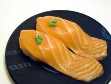 Free Salmon Sushi Royalty Free Stock Images - 8731879