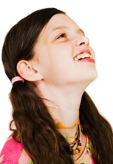 Free Close-Up Of A Girl Smiling Royalty Free Stock Photography - 8731987