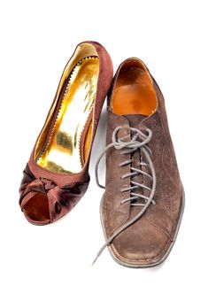 Ladies And Gents Footwear Royalty Free Stock Photo