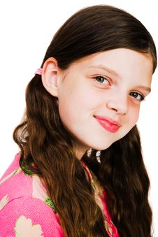 Free Portrait Of A Girl Smiling Royalty Free Stock Images - 8732039
