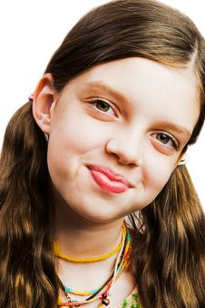 Free Smiley Face Of A Girl Royalty Free Stock Photography - 8732077