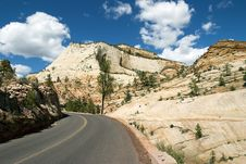 Road Through Zion Stock Photography