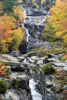 Free Silver Cascade Fall Color Royalty Free Stock Image - 8732146