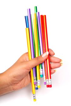 Free Colored Pencils Stock Image - 8732241