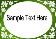 Free Green & White Floral Border Royalty Free Stock Images - 8732449