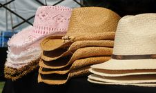 Free Sunhats Royalty Free Stock Photos - 8732488