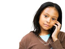 Free Girl Talking On Mobile Phone Stock Photo - 8732680