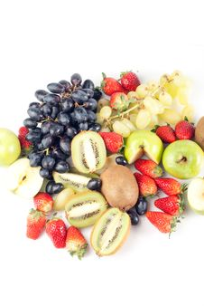 Free Assorted Fresh Fruits Background Royalty Free Stock Photo - 8732945