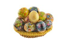 Free Many Easter Decorated Eggs Stock Images - 8732964