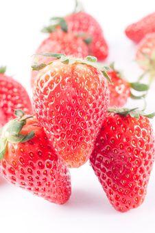 Free Strawberry Isolated On White Stock Photo - 8733150