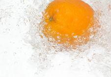 Free Fresh,tasty Orange In Streaming Water. Stock Photo - 8733170