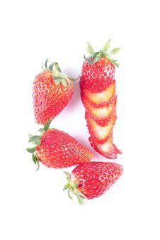 Free Strawberry Isolated On White Stock Photo - 8733180