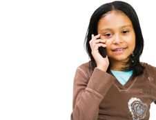 Free Girl On The Phone Royalty Free Stock Photos - 8733208