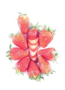 Free Strawberry Isolated On White Stock Photo - 8733210