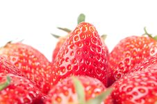 Free Strawberry Isolated On White Royalty Free Stock Photo - 8733265