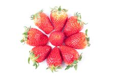 Free Strawberry Isolated On White Stock Images - 8733274