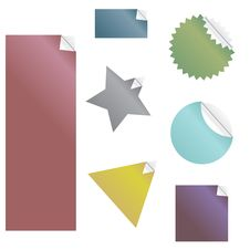 Free Stickers Set Stock Image - 8733301