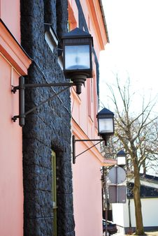 Free Lamp On The Building Royalty Free Stock Photo - 8733755