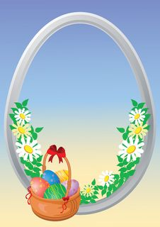 Free Easter Eggs Are In A Basket Royalty Free Stock Photography - 8734907