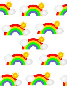 Rainbow Sunshine Illustration Royalty Free Stock Photos