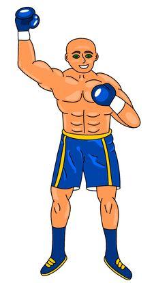 Free Boxer Winner Royalty Free Stock Image - 8735756