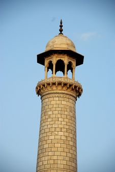 Free Minaret In Taj Mahal, India Stock Photography - 8736222