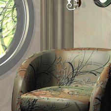 Free Beautiful Burgundy Sofa Stock Photo - 8736290