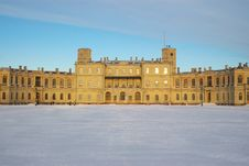 Free Gatchina Palace In Winter Stock Photography - 8736322
