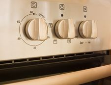 Free Cooker Control Details Royalty Free Stock Image - 8737116
