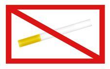 Free Not Smoking Signal Royalty Free Stock Photos - 8737188