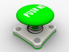 Free Green Start Button Stock Image - 8738161