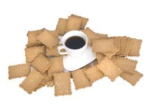 Free Cookies Near A Little Cup Of Coffee Stock Photography - 8738582