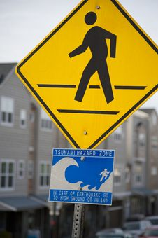 Free Tsunami Warning Sign Stock Images - 8738854