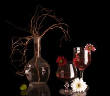 Free Two Goblets. Royalty Free Stock Photography - 8738977