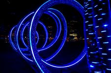 Free Blue Light-tube Royalty Free Stock Photos - 8739088