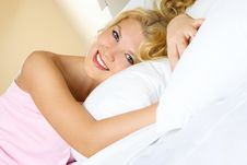 Free Beautiful Girl In Bed Stock Images - 8739204