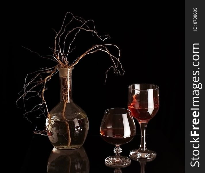 Two goblets.