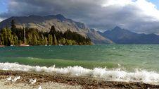 Free Queenstown Bay.Lake Wakatipu. NZ Royalty Free Stock Photos - 87312518