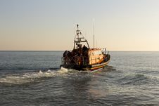 Free RNLB Cosandra, A Shannon Class Lifeboat, Visits Hastings Lifeboat Station. Royalty Free Stock Photos - 87312868