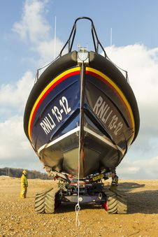 Free RNLB Cosandra, A Shannon Class Lifeboat, Visits Hastings Lifeboat Station. Royalty Free Stock Photography - 87313067