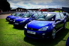 Free Ford Focus RS Mk1 Group Stand RSOC Stock Photography - 87314612