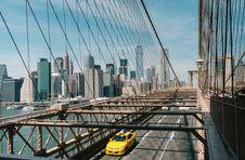 Free Yellow Sedan On The Bridge Stock Photography - 87316432