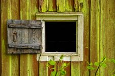 Free Rustic Shutter To Fit Small Window Stock Photo - 87319130
