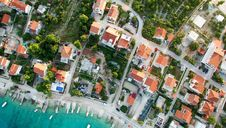 Free High Angle View Of Residential Buildings Royalty Free Stock Images - 87320019