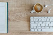 Free High Angle View Of Coffee Cup On Table Stock Image - 87320961