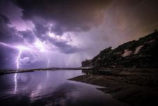 Free Lightning Strikes The Ground Stock Photos - 87322583