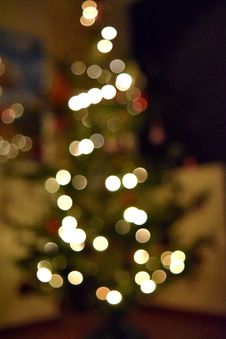 Free Blurred Christmas Tree Royalty Free Stock Images - 87322819